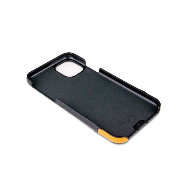 Alto Metro 皮革手機殼 - 渡鴉黑/焦糖棕(iPhone 11)
