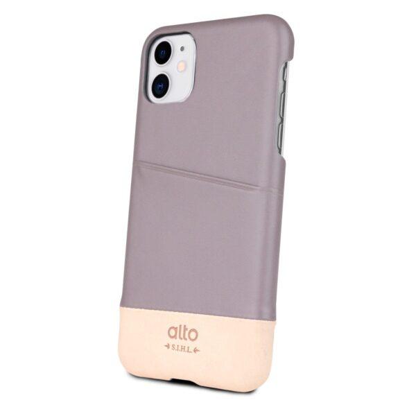 Alto Metro 皮革手機殼 - 礫石灰/本色(iPhone 11)