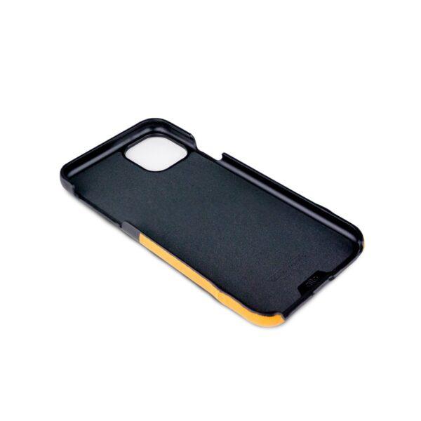 Alto Metro 皮革手機殼 - 焦糖棕/渡鴉黑(iPhone 11)