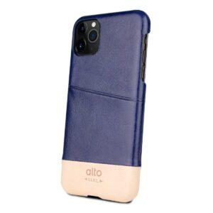 Alto Metro 皮革手機殼 - 海軍藍/本色(iPhone 11 Pro)