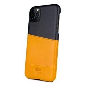 Alto Metro 皮革手機殼 - 焦糖棕/渡鴉黑(iPhone 11 Pro)