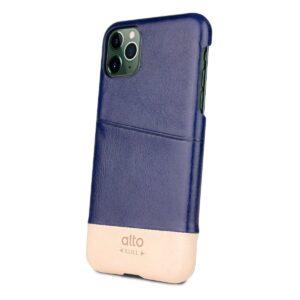 Alto Metro 皮革手機殼 - 海軍藍/本色(iPhone 11 Pro Max)