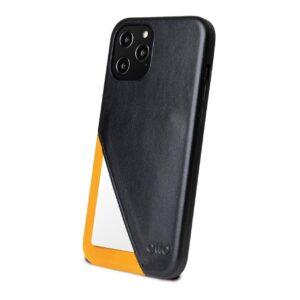 Alto Metro 360 皮革手機殼 - 渡鴉黑/焦糖棕(iPhone 12 Pro Max)